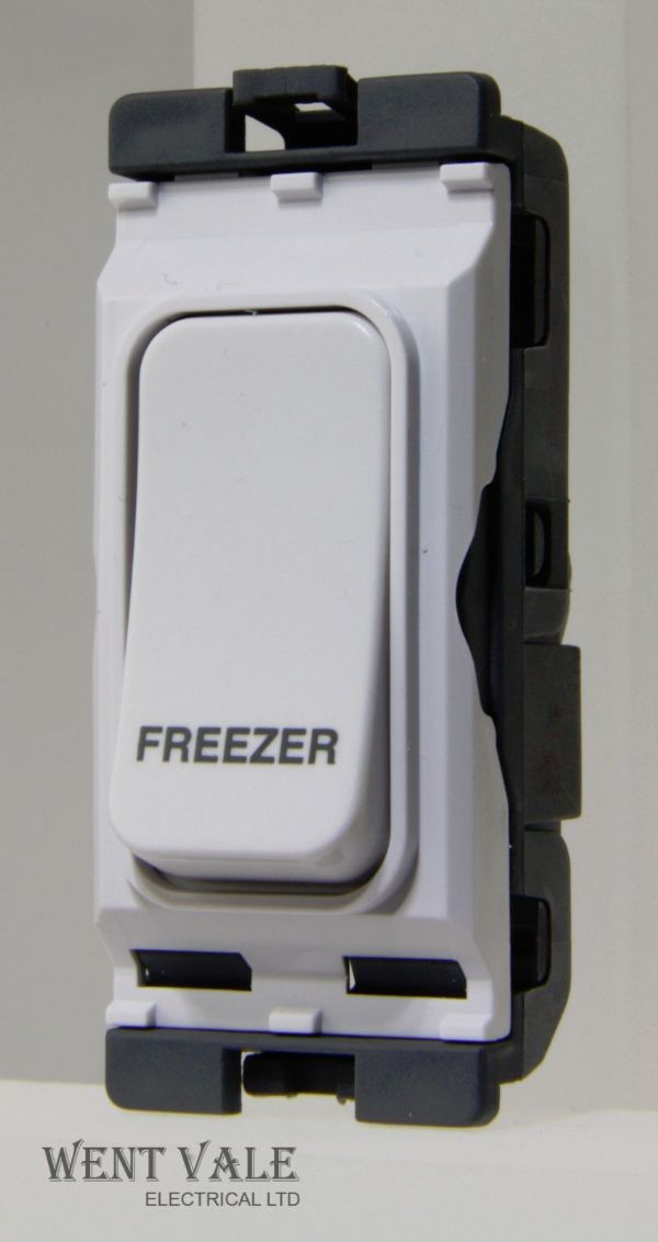 Hager Sollysta Grid - WMGSDP2/FRE - 20a Double Pole Grid Switch Printed Freezer.